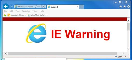 IE Warning error.  Won't let you use IE...