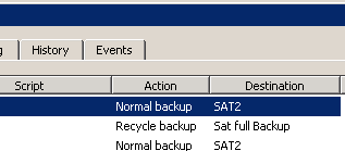 retrospect schedule backup